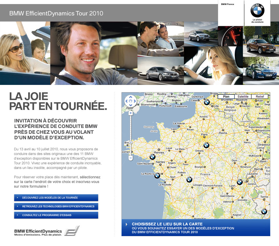 home du site BMW ED Tour 2010